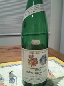 Zilliken Ockfener Bockstein Riesling Auslese 1983 #1