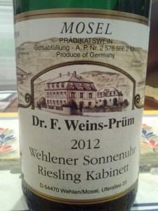 Weins-Prum Kabinett 2012 #1