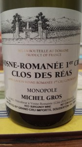 Michel Gros Vosne Reas 1999