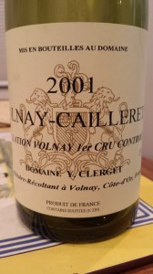 Clerget Volnay Caillerets 2001 #1
