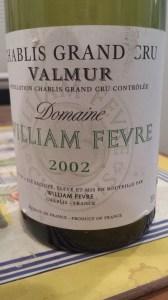 Fevre Chablis Valmur 2002