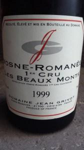 Grivot Vosne Beaux Monts 1999