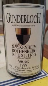 Gunderloch Nackenheim Rothenberg Auslese 1999