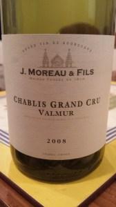 Moreau Chablis Valmur 2008 #1