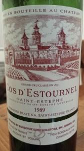 Cos D'Estournel 1989