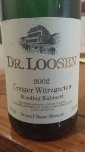 Loosen Urziger Wurzgarten Kabinett 2002