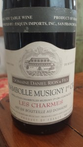 Rion Chambolle Charmes 1996