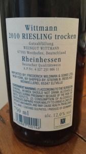 Wittmann Estate Trocken 2010 #1