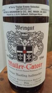 Muller Catoir Halbrocken 1994