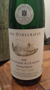 Von Othegraven Auction Spatlese 1999 #1