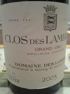 Clos des Lambrays 2005