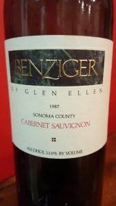 Bezinger Cabernet 1987