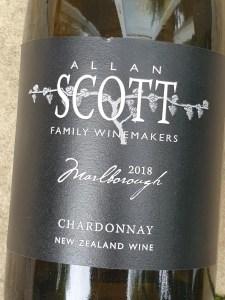 Allan Scott Black Label Marlborough Chardonnay 2018