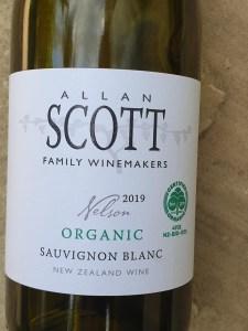Allan Scott Organic Sauvignon Blanc 2019
