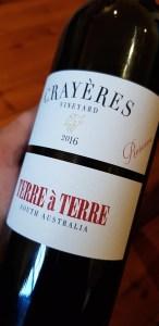 Terre á Terre Crayeres Vineyard 2016 (Reserve)