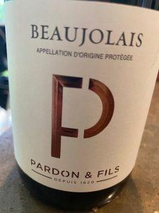 Domaine Pardon & Fils Beaujolais Cuvee P Rouge 2019