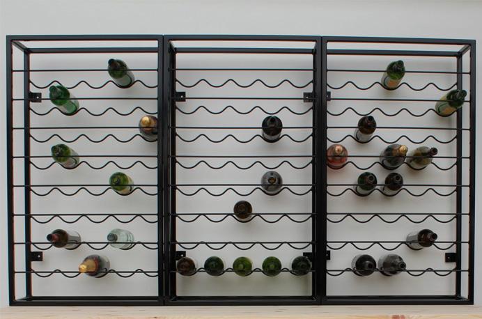 metal wine racks bespoke design