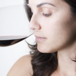 Smelling a red wine