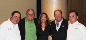 Emeril Lagasse, Mario Batali and Gus and Paulette Gamba