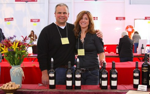 Agostino and Paulette Gamba at a Tasting Event