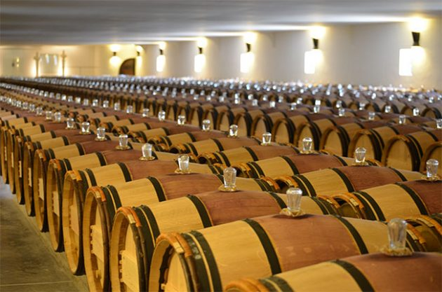 mouton rothschild barrel room
