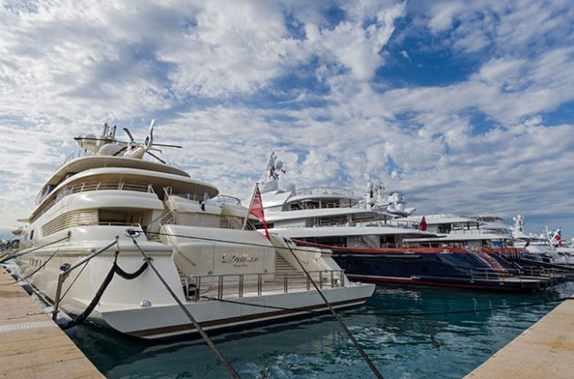 superyachts and wine