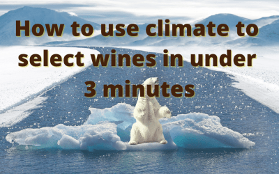 How to use climate to select wine