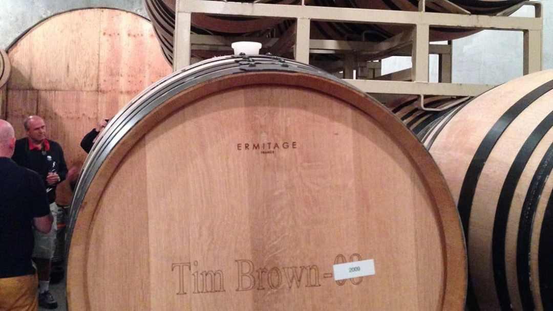 Behind The Barrels