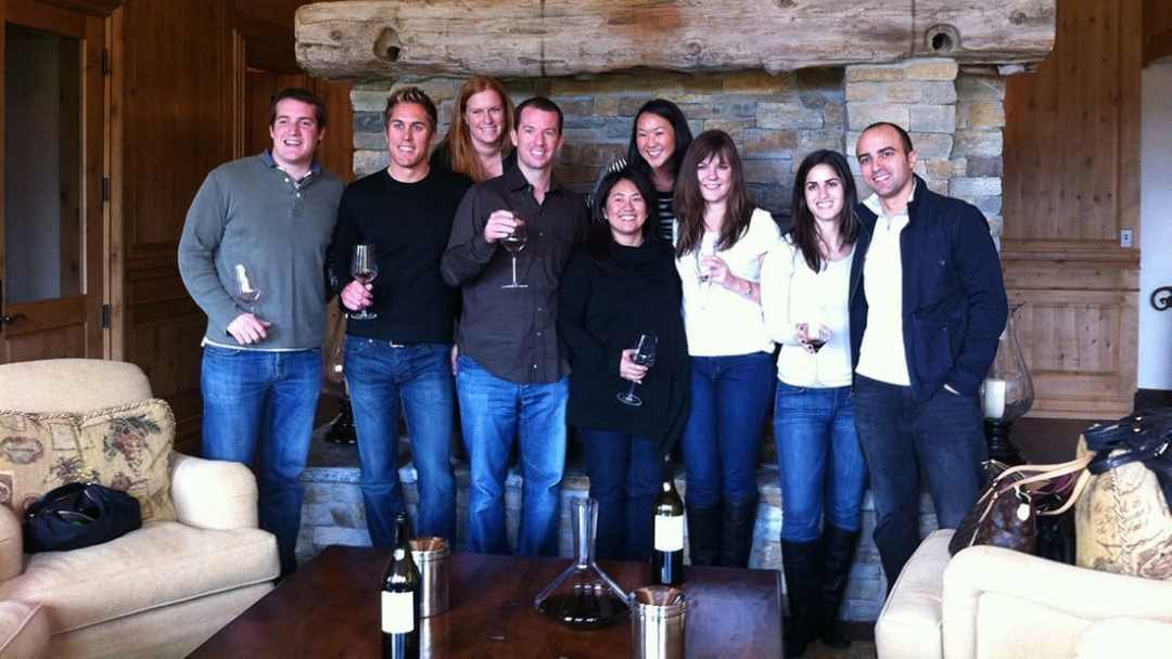 A Happy Group of Wine Lovers