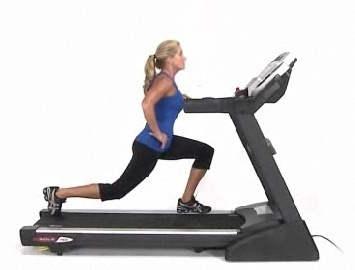 treadmill lunges