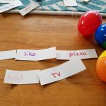 Building Sentences with Egg Hunts Lead to Funny Results