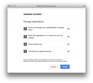 See permission tab for details. The permissions are needed for your sites and your notifications only.