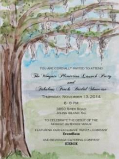 Wingate Plantation Launch Party Invitation