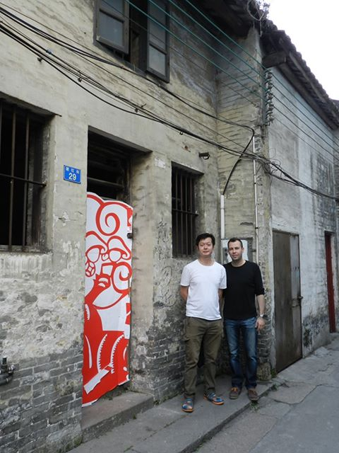 Sifu John Wong with the author at Ip Man's House