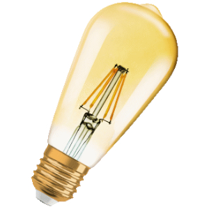OSRAM EDISON LED 7W/E27 AMBERDIMBAAR 2400K 710LM LG 143MM