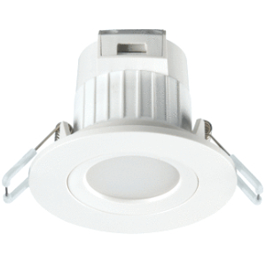 Sylvania Start EVO downlight star/zwenkbaar WIT GATM. 68-74MMNIET DIMB. 6,5W 3000K IP 44 RECHT