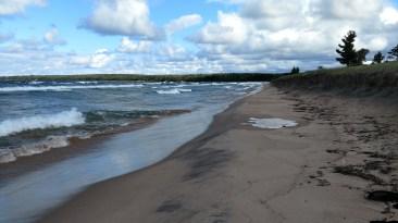 Windy Lake Superior East of Marquette, MI