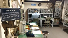 Radio III Room in USS Yorktown, Charleston, South Carolina