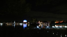Future World over the World Showcase Lagoon at Epcot Center