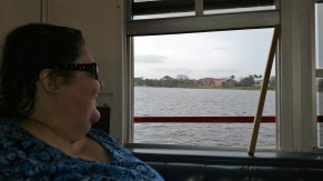 Barb Enjoying the Daytona View