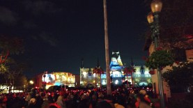 Something new for us! At Hollywood Studios at closing using huge projection systems to display the evening show.