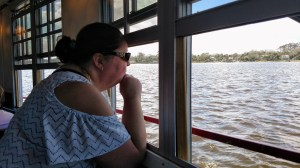 Deina enjoying the views of Daytona from the Halifax River Dinner and Cruise