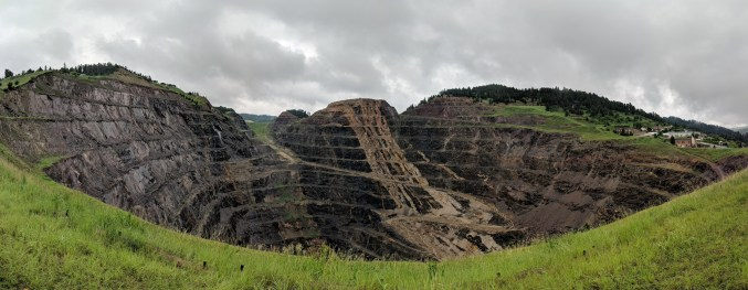 The surface mine at Lead, SD, is just the small top section of what goes down 8000 feet below the town of Lead