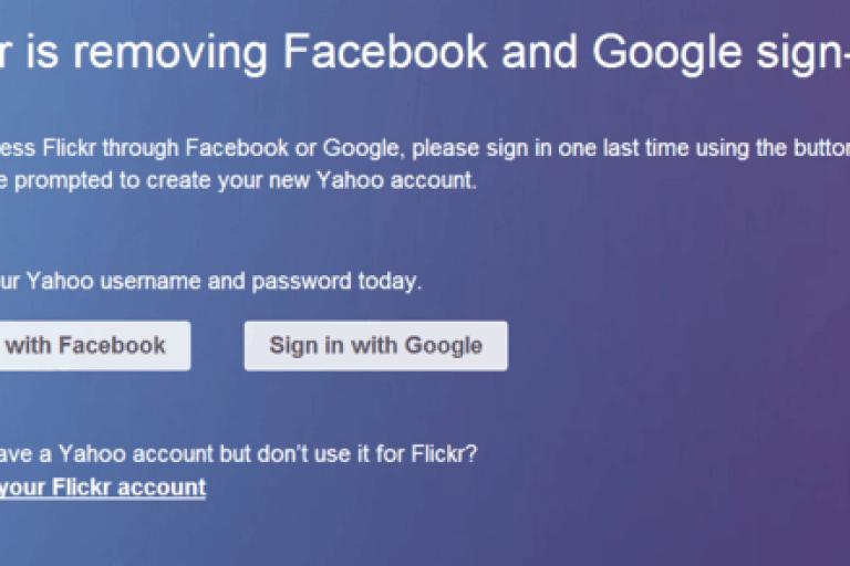 إلغاء تسجيل الدخول بحساب قوقل والفيس بوك فى فليكر