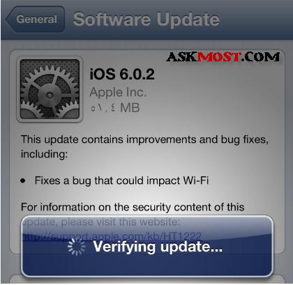 update ios 6.0.2 -5
