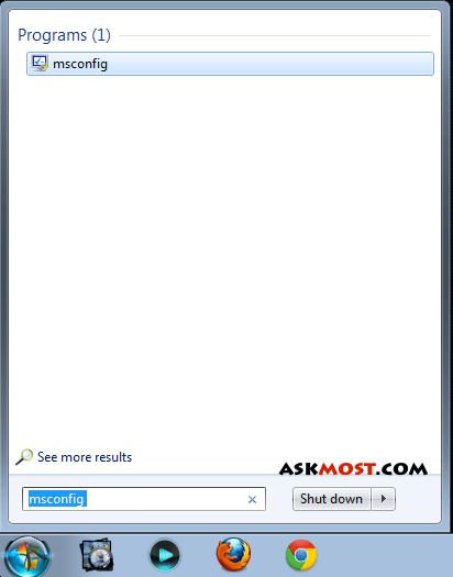 الغاء برامج بدء التشغيل ويندوز 7