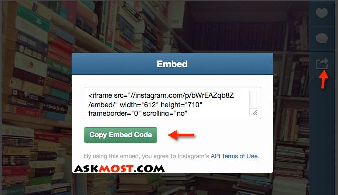 embed Instagram photos or videos -١
