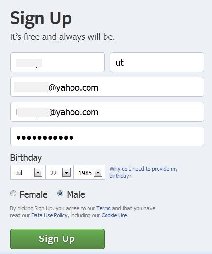 التسجيل فى الفيس بوك القديم