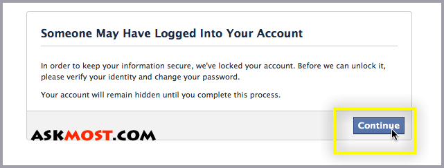someone may have logged into your account-١