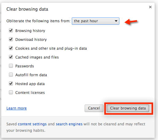 حذف الكاش من جوجل كروم